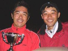 男子優勝の岡田・小山ペア